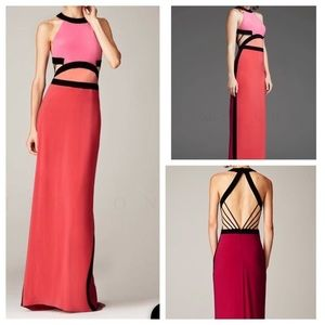 Mignon pink color-block dress